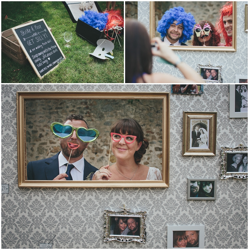 Bride and Groom posing in costume Photo Booth