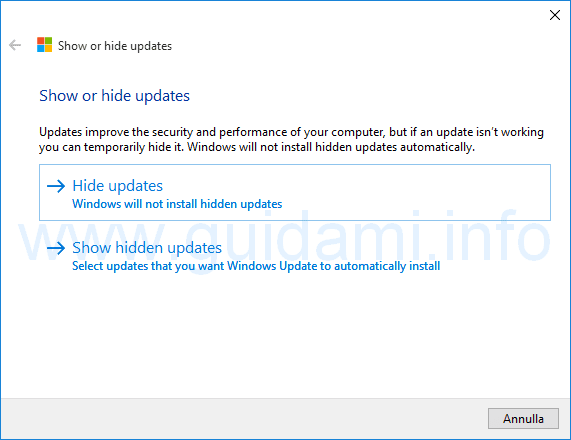 Show or hide update Hide Update