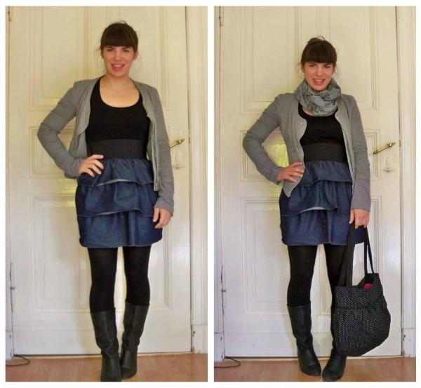 30 Kleidungsstücke für 30 Tage ergeben 30 verschiedene Outfits Tag 23