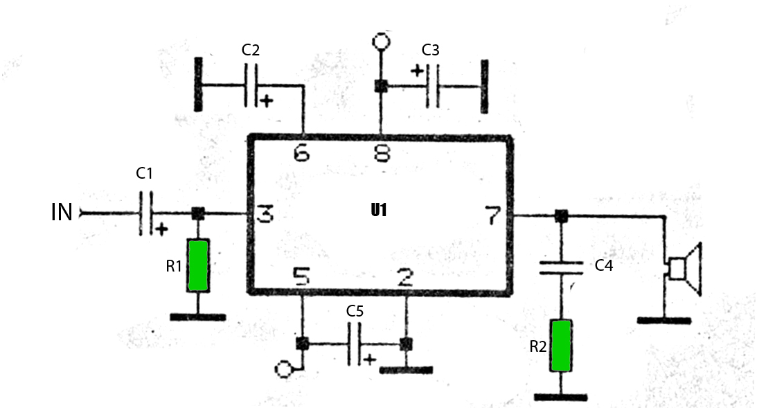 50w car audio amplifier schematic circuits