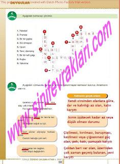 6.Sinif  Turkce Doku Yayinlari Ogrenci Calisma Kitabi Sayfa 98