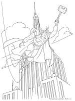 Gambar Mewarnai Thor