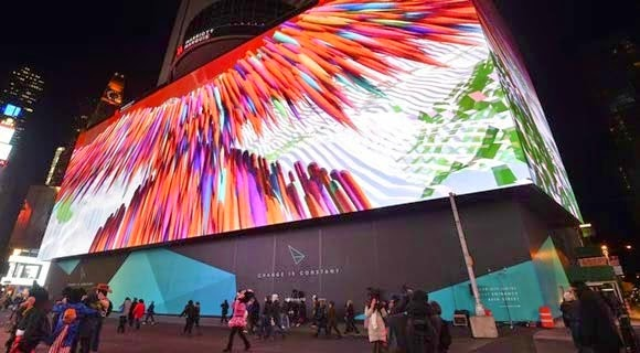 the largest LED screen in the world