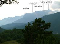 Panoràmica de la zona de Tastanós des de la Solana del Putjot