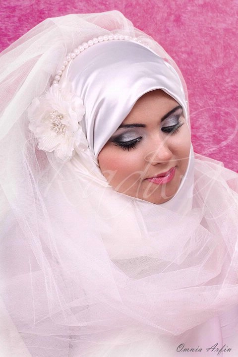 Images Islamic Pink Wedding Dress Hair Style 2011