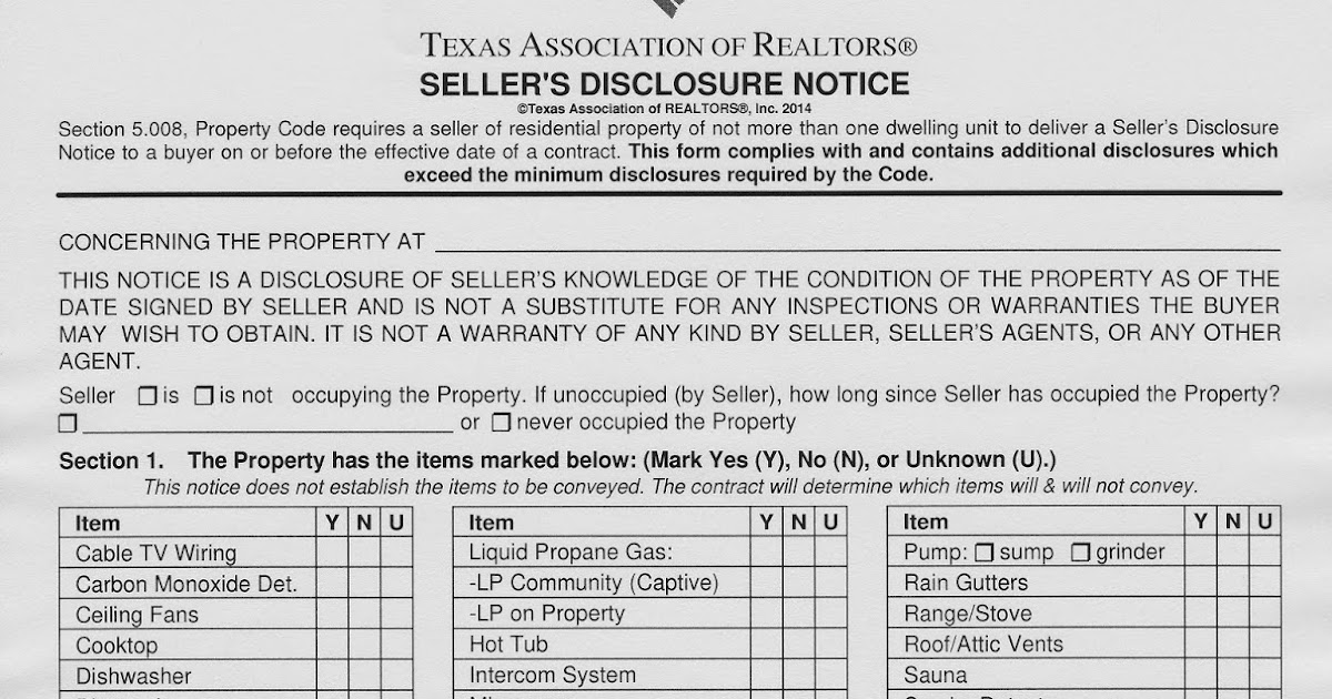 How To Sell a House in Austin: Seller's Disclosure Notice