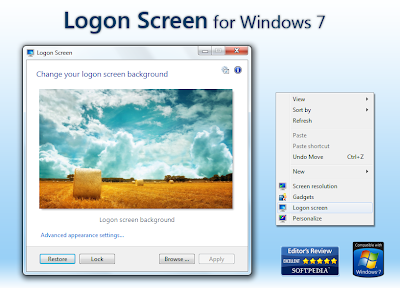 Logon Screen 2.54 Windows 7 ~ Size 2MB