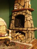 Печка из камня. Furnace of stone.