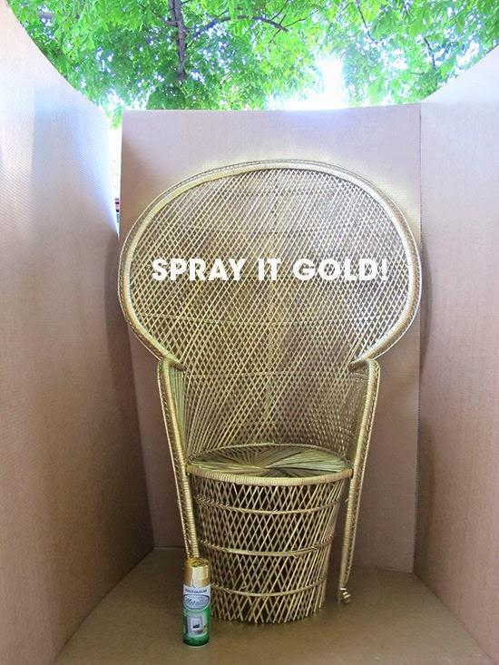Easy craft idea renew wicker furniture glamor - Muebles de mimbre ...