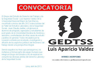 CONVOCATORIA GEDTSS - 2013
