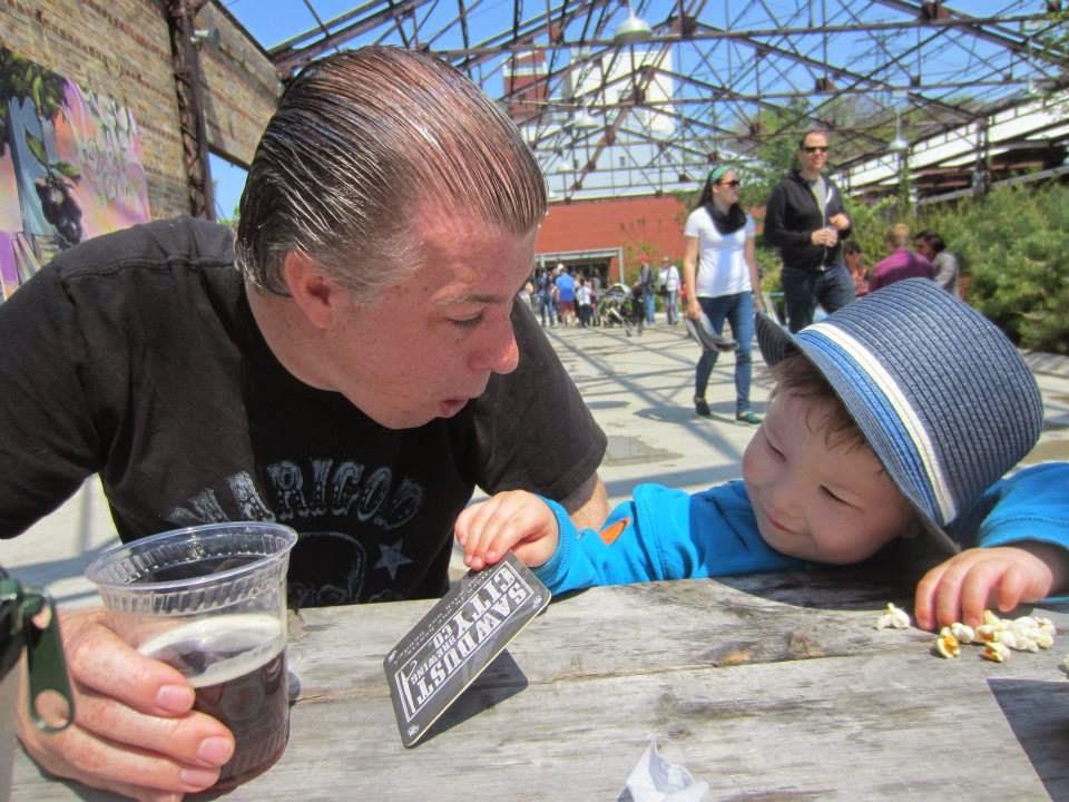 beer garden Evergreen Brickworks Toronto