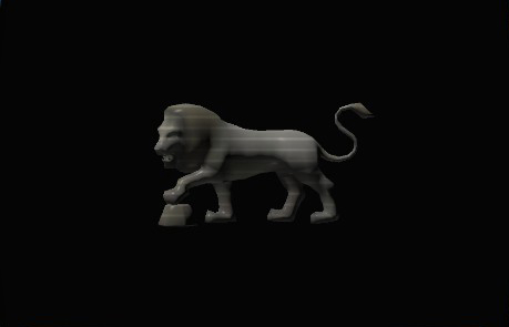 Prowling Lion Statue preview