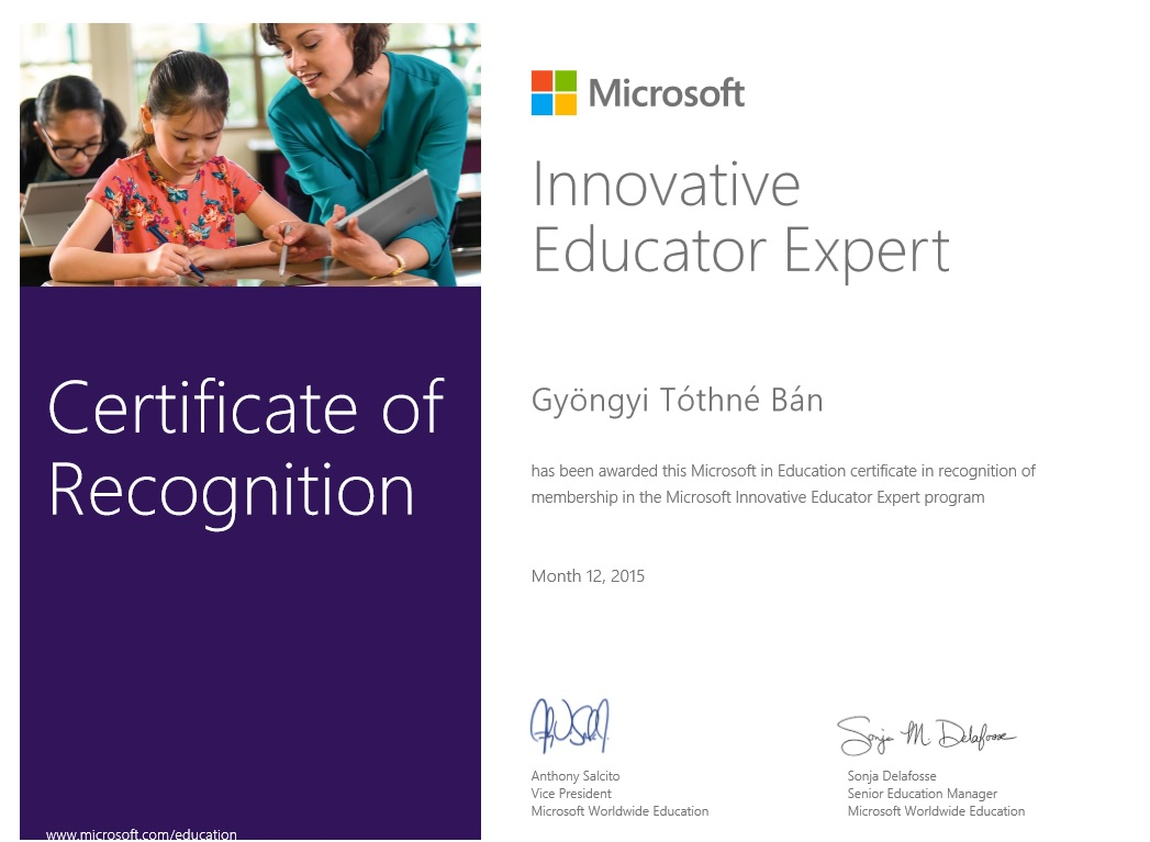 Microsoft Education Expert  2015/16