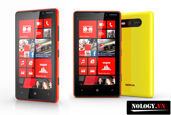 Nokia Lumia 820 có nhiều vỏ màu khác nhau cho người dùng thoả sức lựa chọn