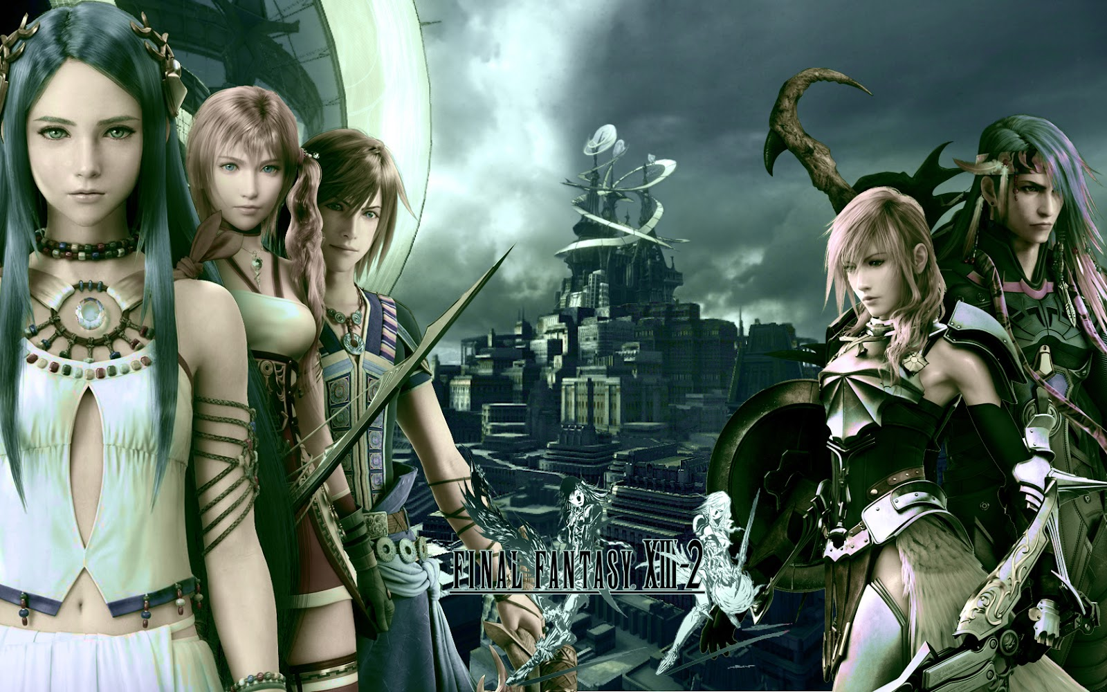 final fantasy xiii-final fantasy xiii-2-lightning-noel kreiss-serahFinal Fantasy Serah And Lightning