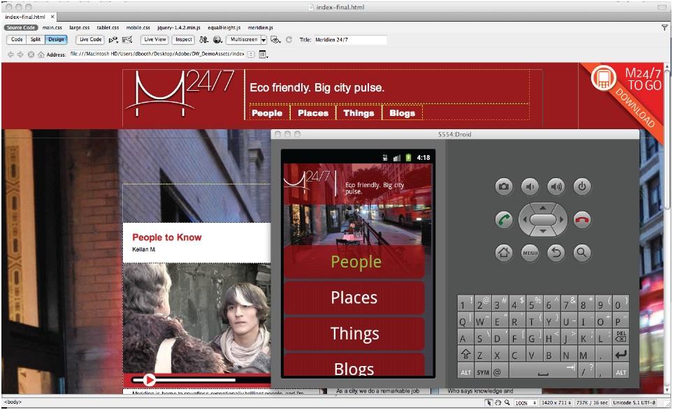Build A Mobile Site In Dreamweaver