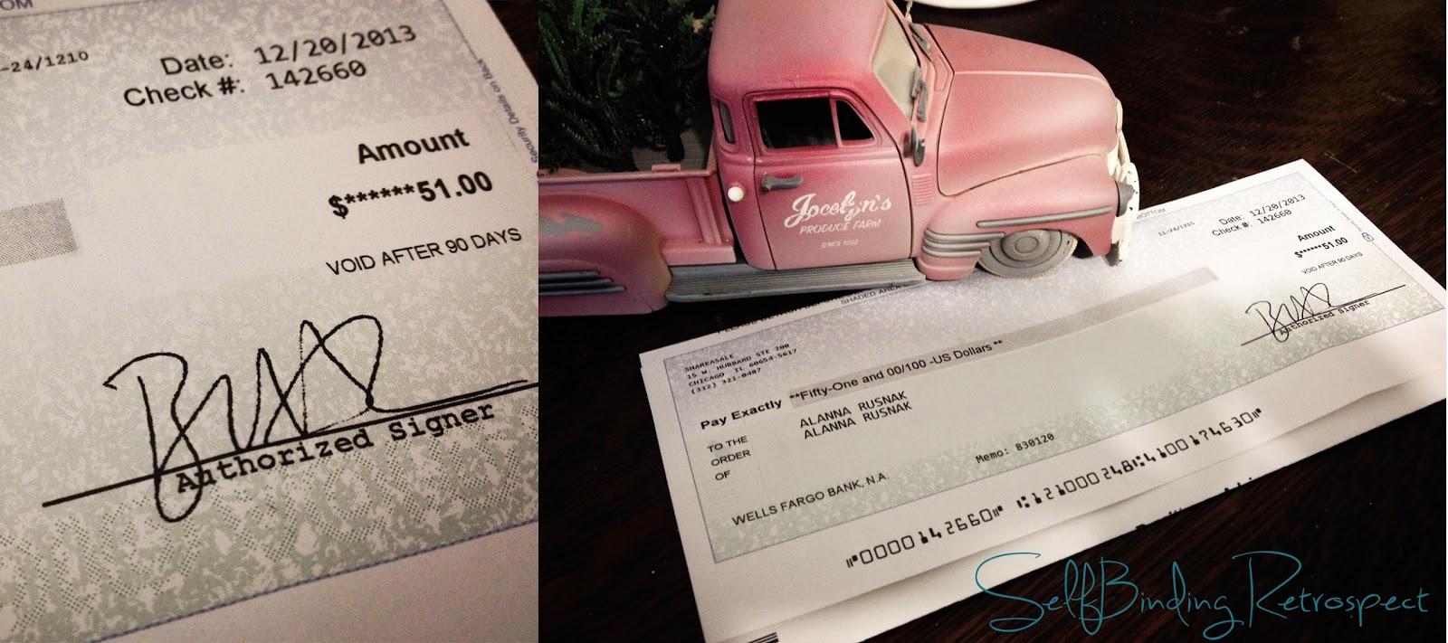 cheque, blog income