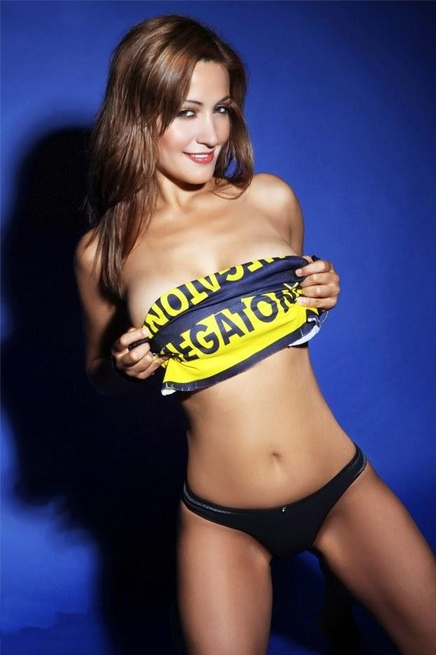Gabriela Villalobos nas cores do Club Atlético Boca Juniors