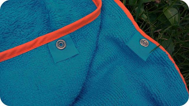 Cuddledry Swim Poncho Towel Blog Review Underarm Poppers