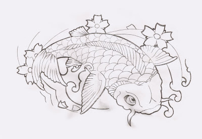 Koi Fish Tattoo Designs Sketch Collection 1