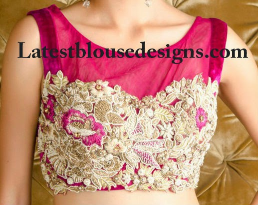 all over thread work blouse