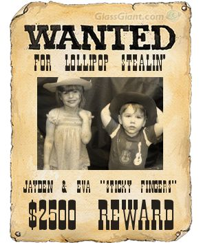 Little Web Treasures: Wanted Posters (Make Your Own)