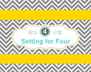 Setting for Four #blog #design #decor #diy #tutorial