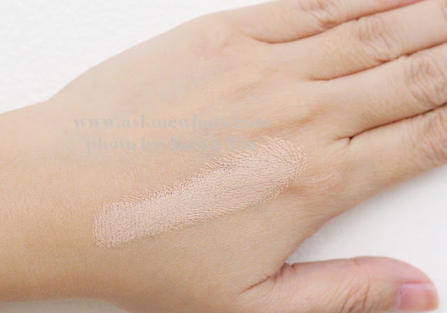 A photo of a swatch of Benefit Play Stick Foundation in Light Beige