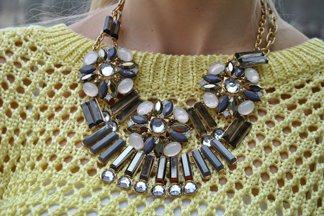 collana majique maglione giallo necklace majique london mariafelicia magno fashion blogger colorblock by felym mariafelicia magno fashion blogger blog di moda blogger italiane di moda blogger di moda milano  fashion bloggers italy