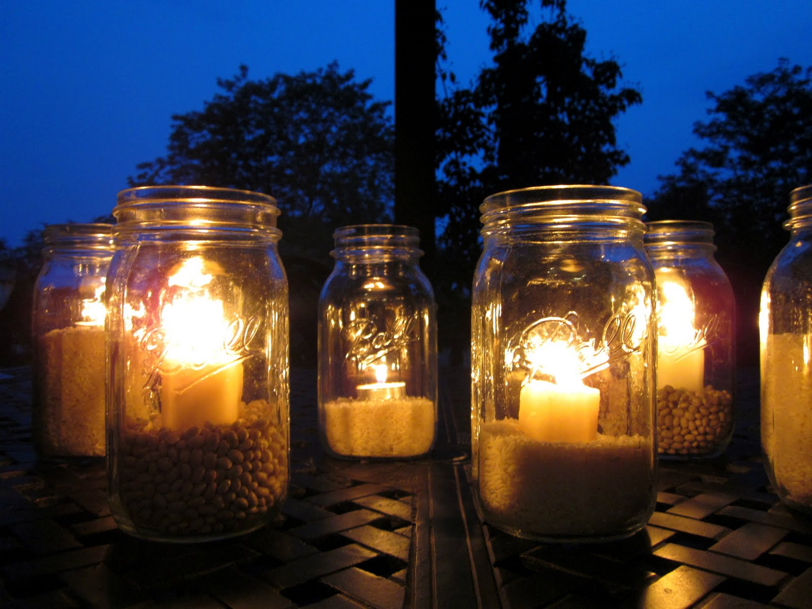 Outdoor mason jar lights aloadofball Image collections