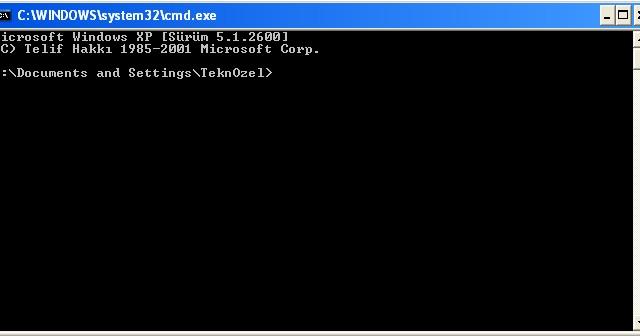 Teknozel Windows Cmd Komut Ekranın Dan Kullanıcı