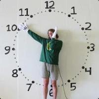 Красивые цифровые часы для блога