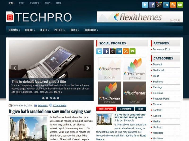 TechPro - Free Wordpress Theme