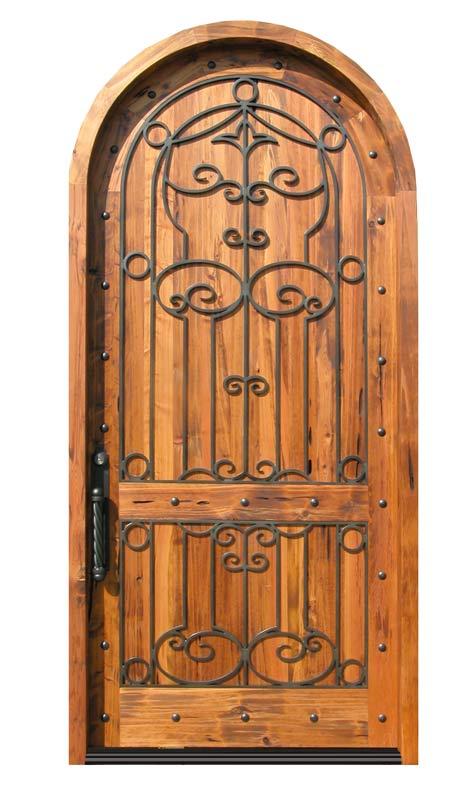 Arvi welding wrought iron doors for Wood doors with wrought iron