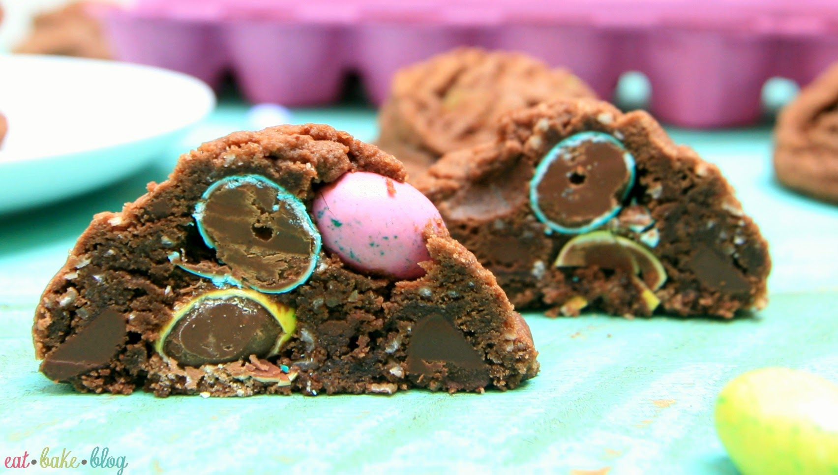 easy easter dessert best double chocolate chip cookies chocolate coconut cookies