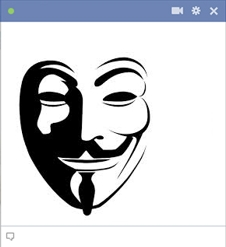 Anonymous symbol for facebook
