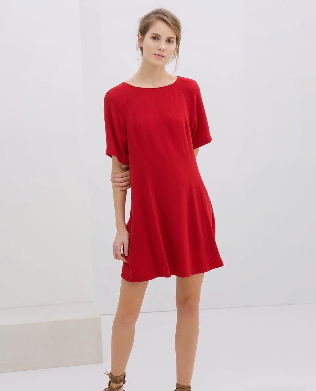 kırmızı elbise, kısa elbise, yarım kol elbise