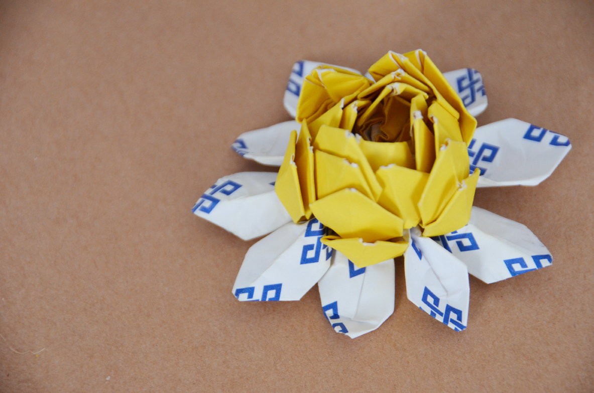 How to make an origami lotus for How to make a lotus with paper