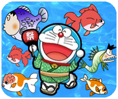 Game Doremon vớt cá, choi game doremon hay