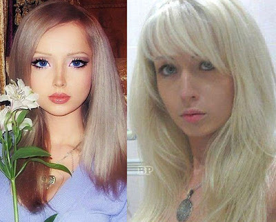 Valeria Lukyanova with no MakeUP