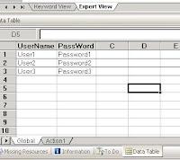 QTP Data Table Global Sheet