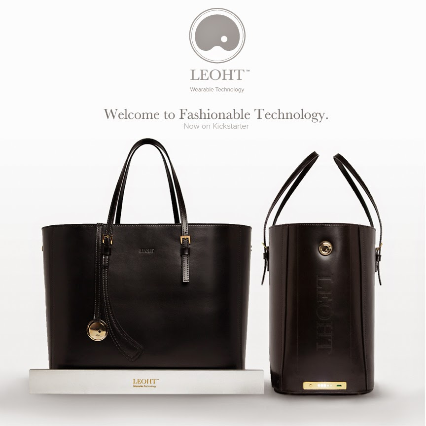 Leoht fashion technology tote kickstarter - Hello, Handbag