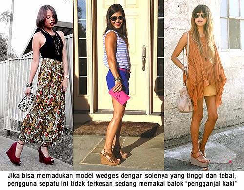 Sepatu model wanita wedges