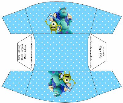 monster university free printable party boxes oh my fiesta in english. Black Bedroom Furniture Sets. Home Design Ideas