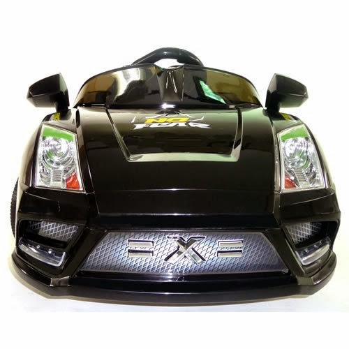Buy Black 12v Radio Remote Control Ride On Power Kids Lambo Style Power Wheels Car Toy 2014 NEW UPGRADED MODEL Lowest Discount Price