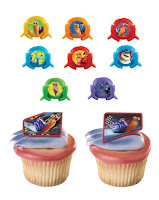 turbo birthday cupcakes ring toppers