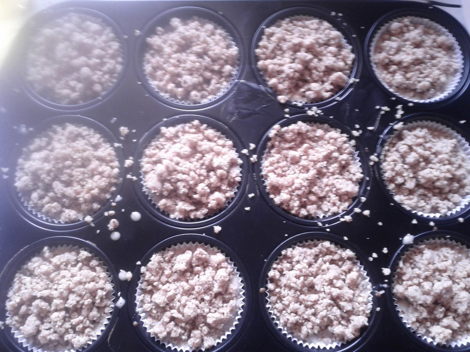 Dann das Blech für ca 25 Minuten ins Rohr geben Anschließend das Blech aus dem en geben und Cupcakes abkühlen lassen