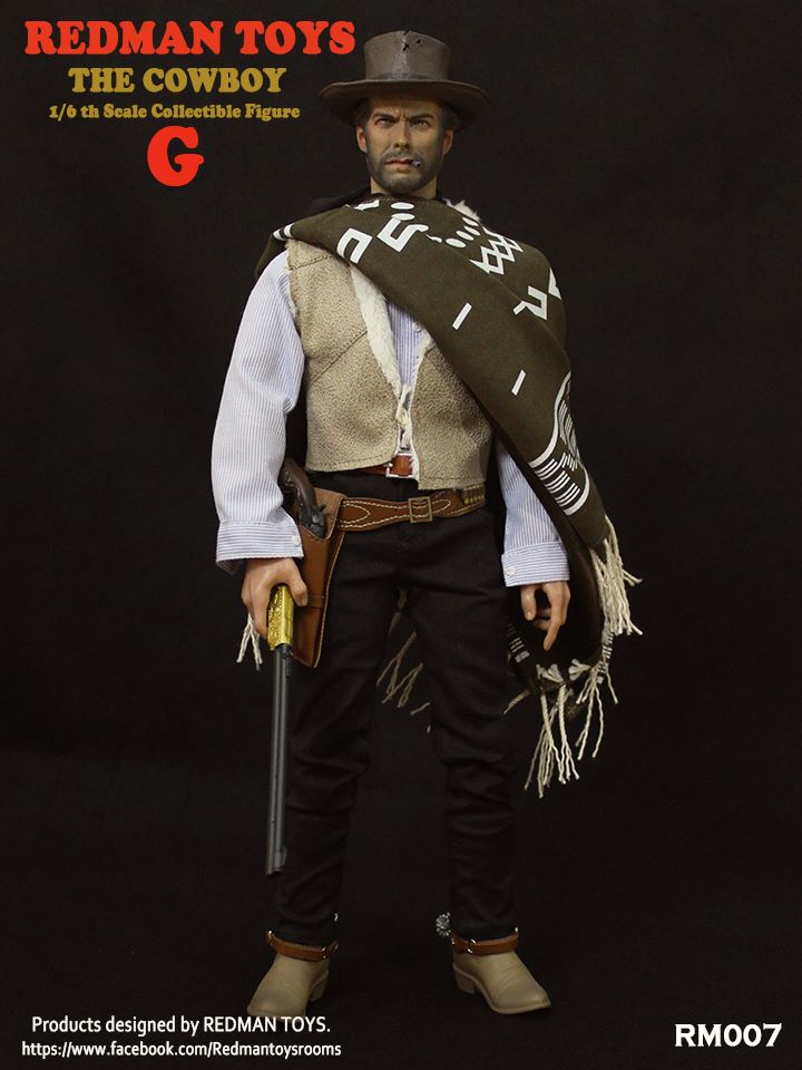 Bad Cowboy V2 1//6 Scale Redman Action Figures Smoking Pipe