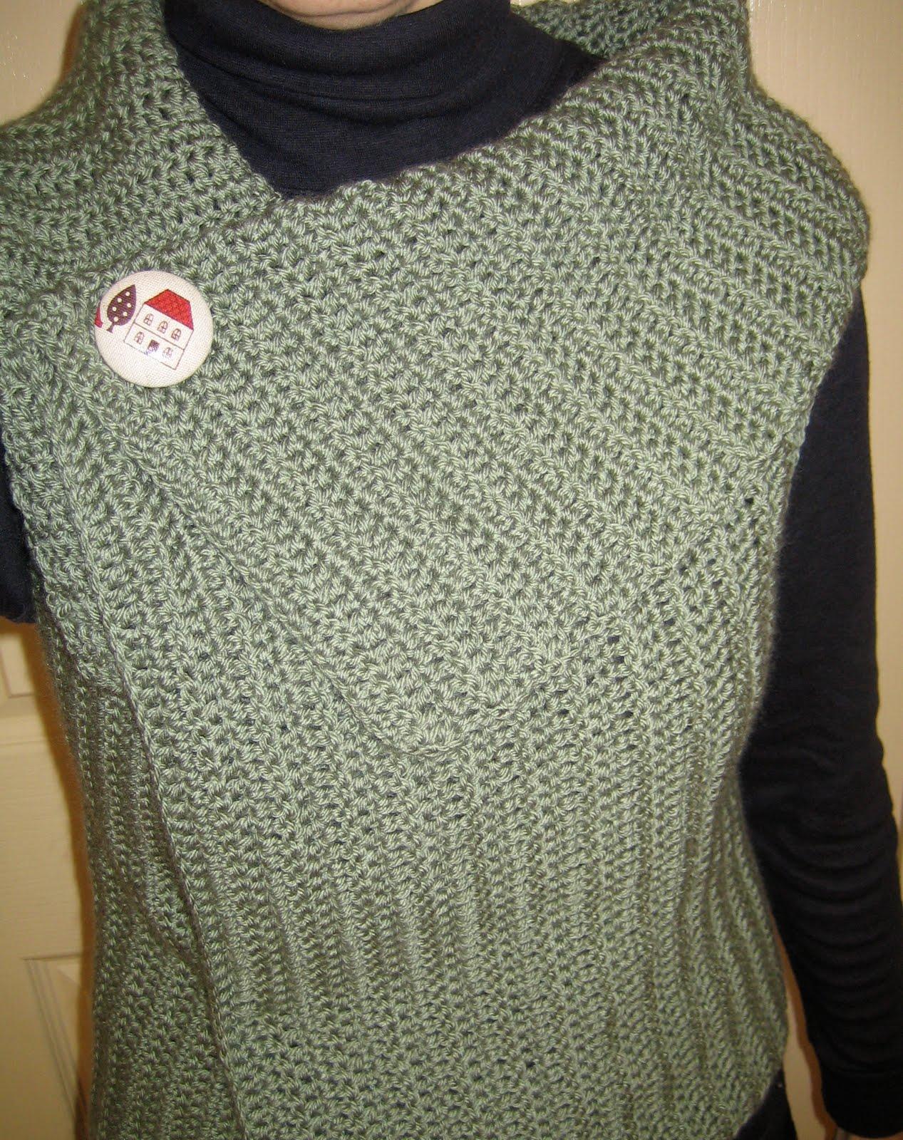 Free Crochet Pattern For Ladies Gilet : MES FAVORIS TRICOT-CROCHET: Modele gratuit : Gilet au crochet