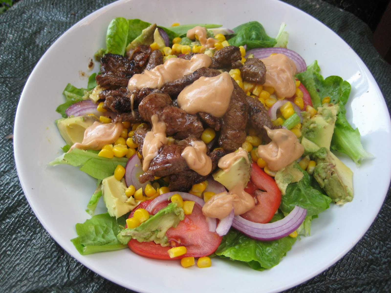 Lemon and Cheese: Chipotle Steak Salad